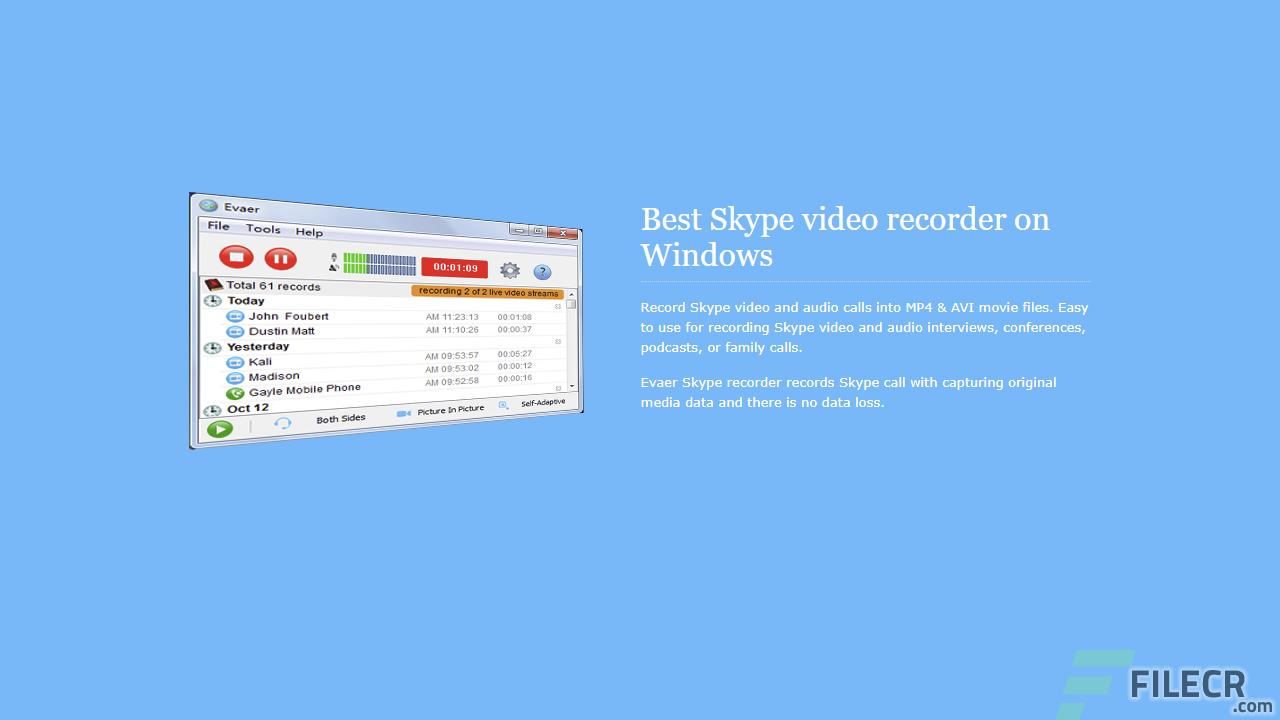 Evaer Video Recorder for Skype 1.9.10.15