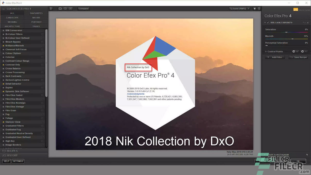 Nik Collection 2 0 5 by DxO 2019 Free Download - FileCR