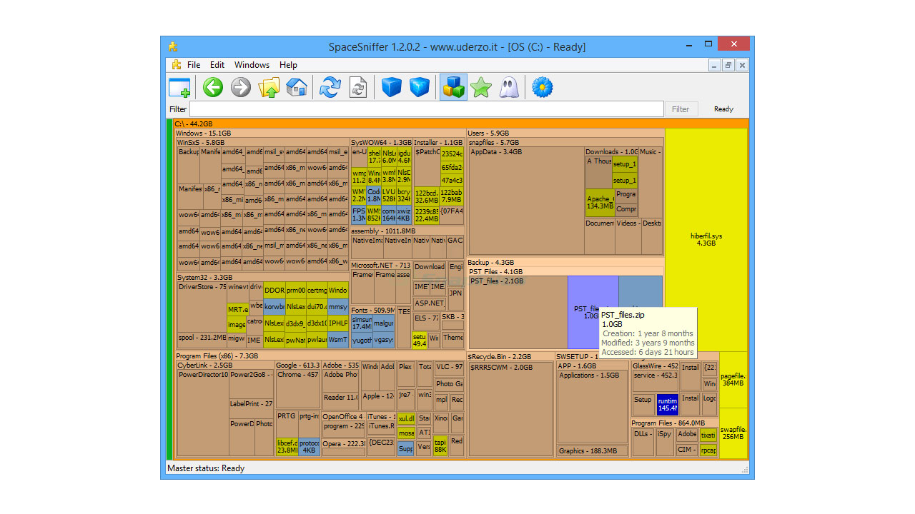 SpaceSniffer v1 3 0 2 Portable Free Download - FileCR