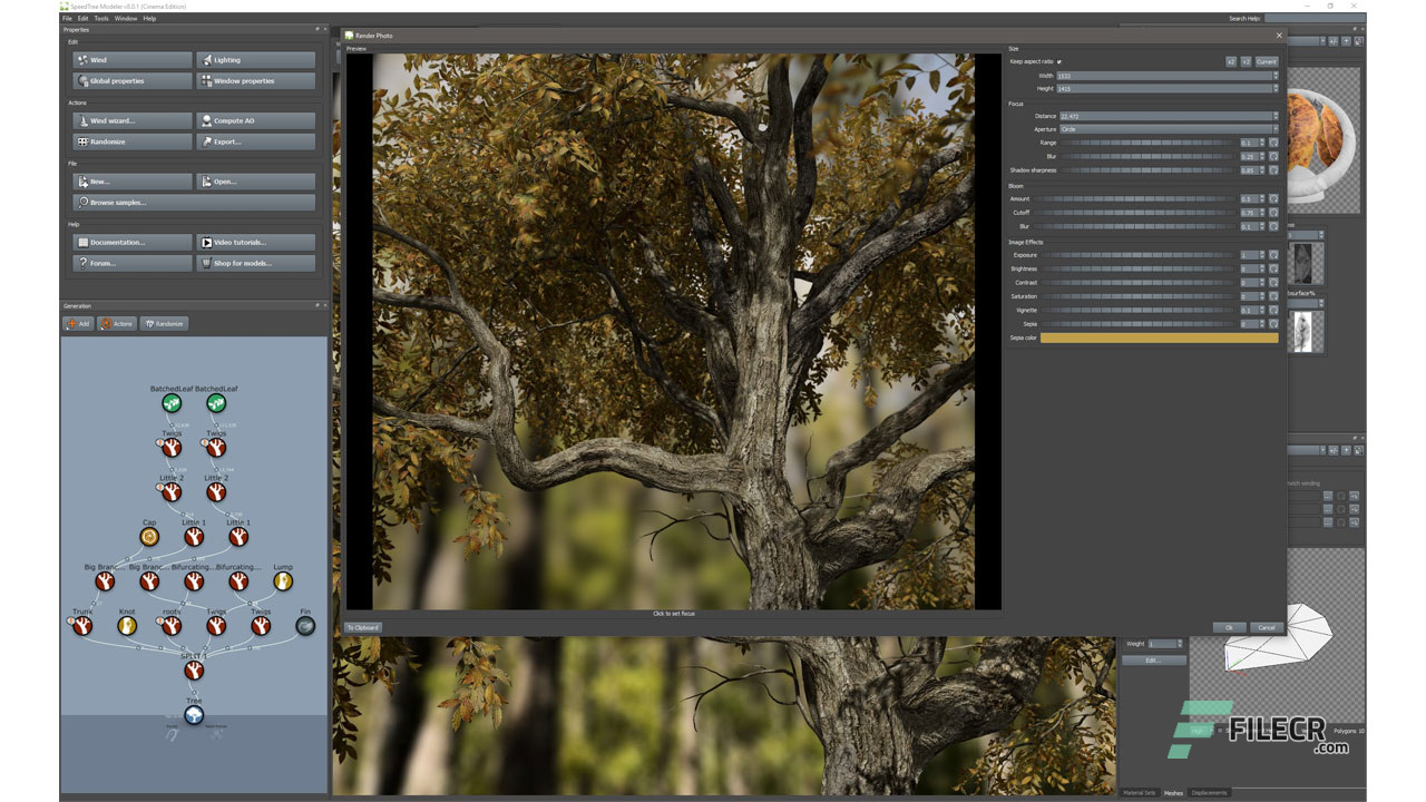 SpeedTree Modeler 8 4 1 Cinema Edition Free Download - FileCR