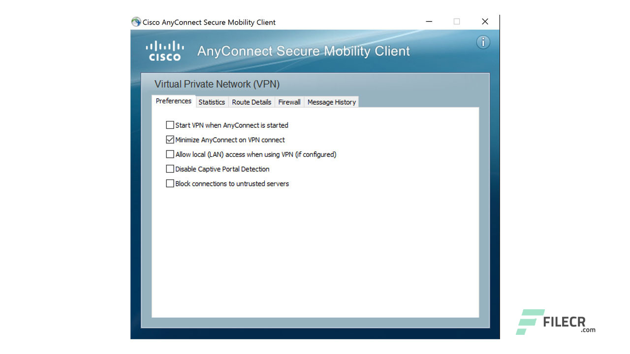 Cisco Anyconnect Secure Mobility Client - Free downloads