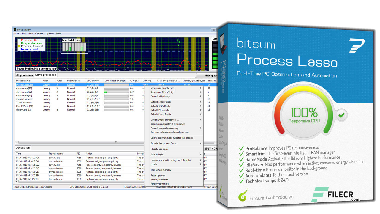 Bitsum Process Lasso Pro 9.9.4.101 Final / 10.0.0.145 Beta