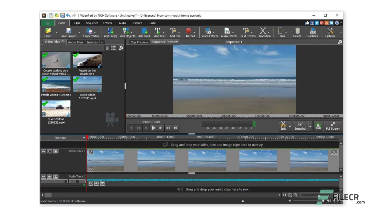 NCH VideoPad Video Editor Professional 7 Free Download ...