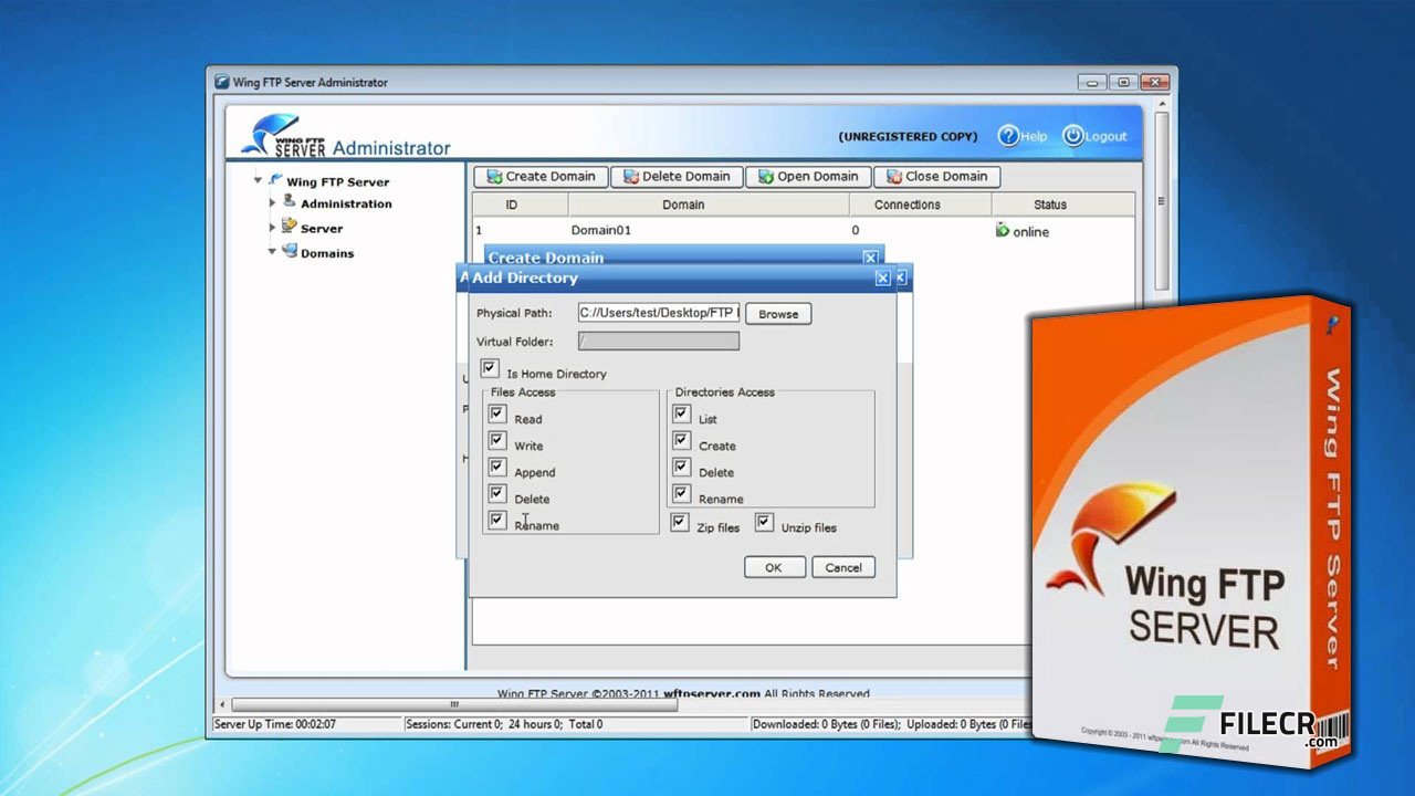 Wing FTP Server Corporate 6 1 5 Free Download - FileCR