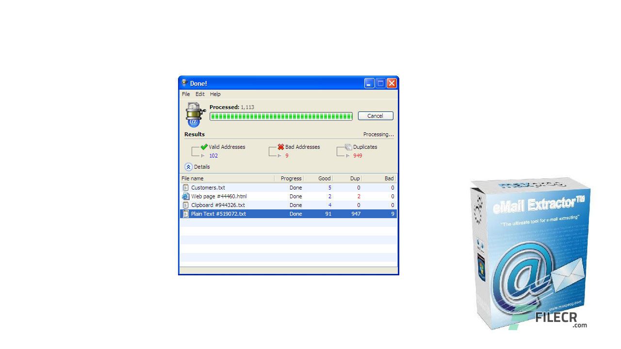 Maxprog eMail Extractor 3 7 6 Full Version Free Download - FileCR
