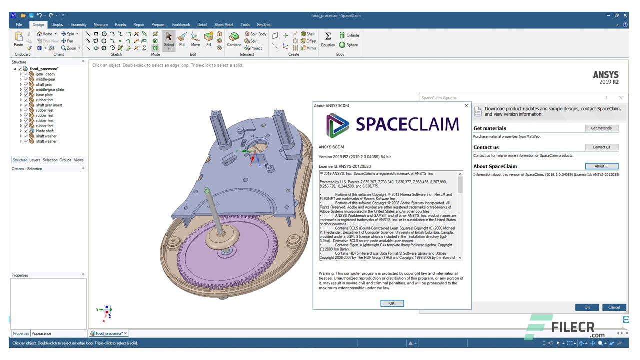 ANSYS SpaceClaim Direct Modeler 2019 R2 Free Download - FileCR