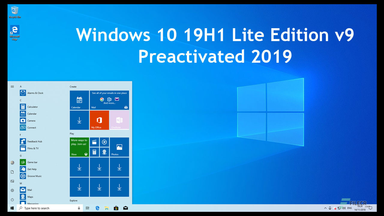 Windows 10 19H1 Lite Edition v9 Preactivated 2019