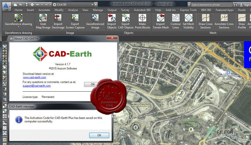 CAD-Earth 5 1 22 for AutoCAD / BricsCAD / ZWCAD - FileCR