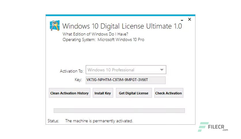 Windows 10 Digital License Ultimate 1 5 Free Download - FileCR