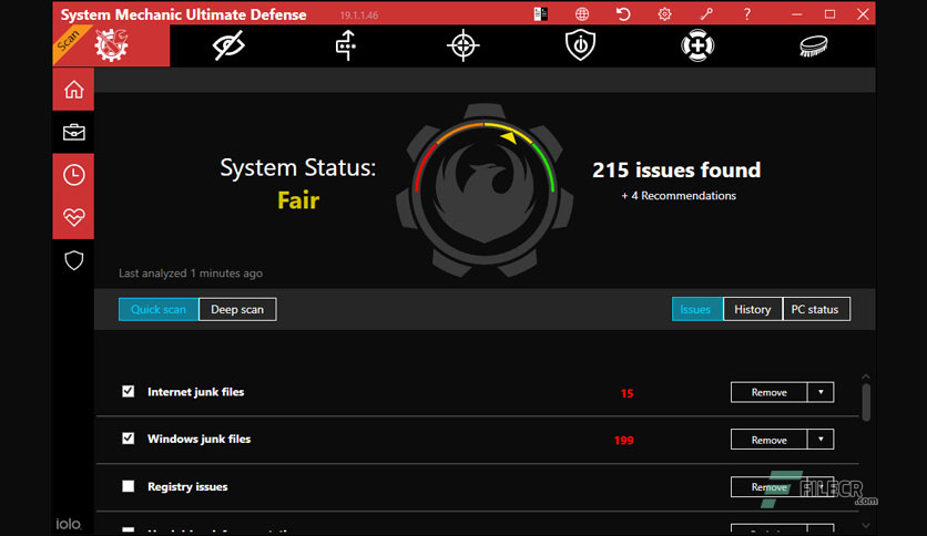 system mechanic ultimate defense activation