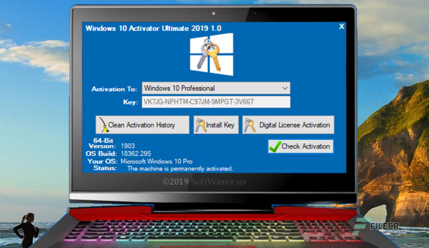 Windows 10 Activator Ultimate 2019 1 1 Free Download - FileCR