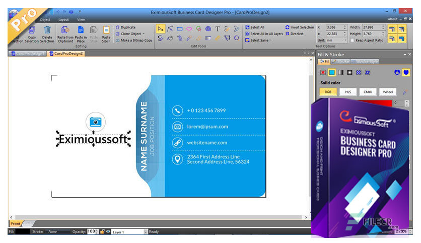 EximiousSoft Business Card Designer Pro 3.73