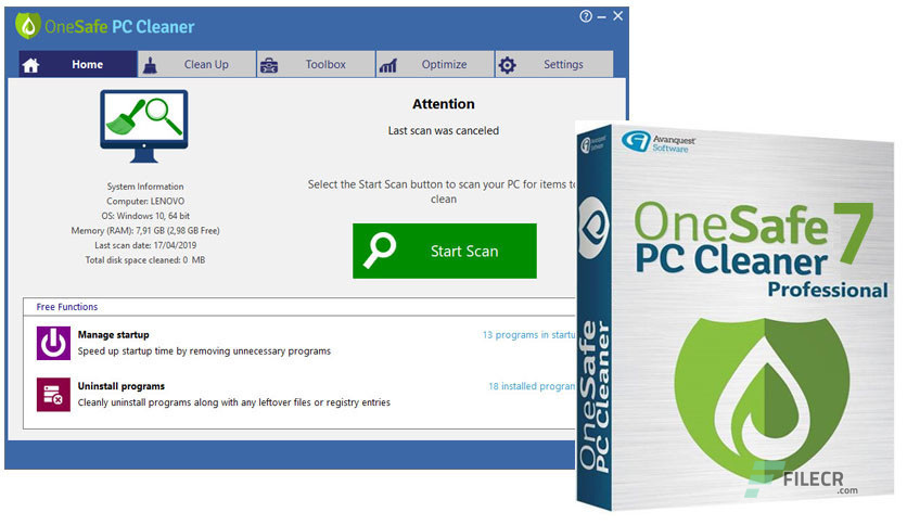 OneSafe PC Cleaner Pro 7.0.5.78