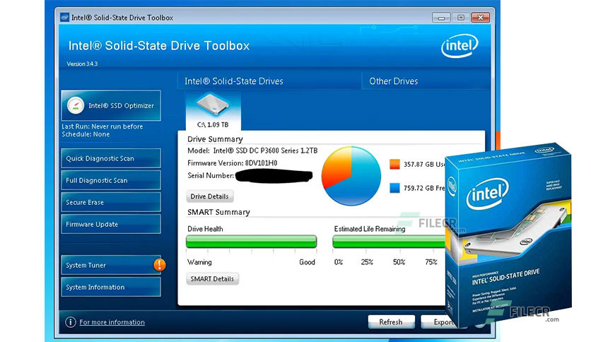 Intel Solid State Drive (SSD) Toolbox 3.5.12